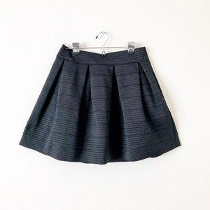 Express Skirts - Express Black Textured Skater Skirt